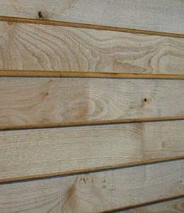 Profiled Air Dried British Chestnut Cladding