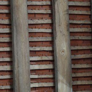 Riven Oak Battens and Tile Pegs Harmondsworth Barn, Heathrow